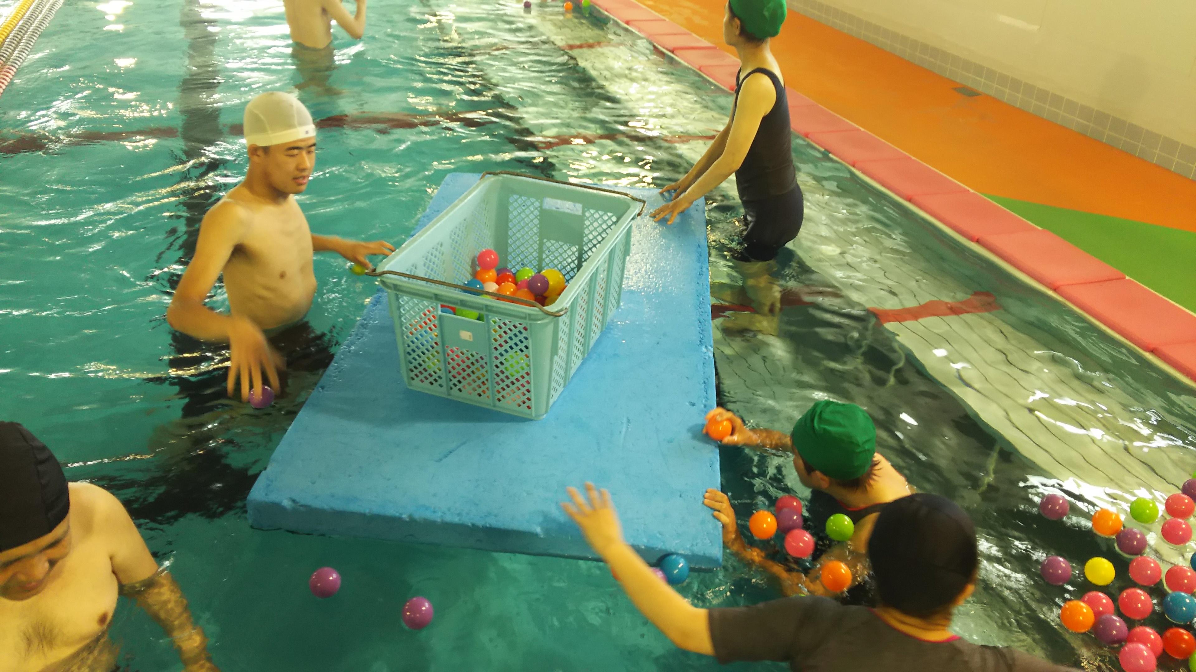 今日の水泳教室~生活介護~
