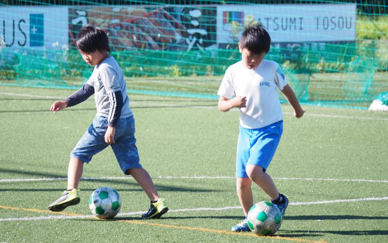サッカー教室を開催しました!