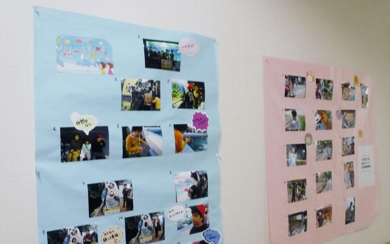 事務所前の廊下に写真を展示しています
