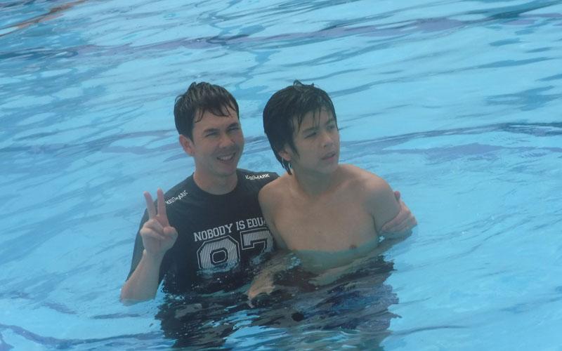 子供たちといっしょに松阪公園プールに行きました